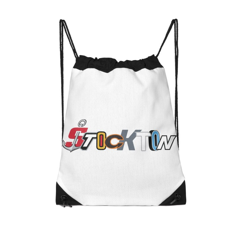 All Things Stockton Accessories Drawstring Bag Bag by Mike Hampton's T-Shirt Shop