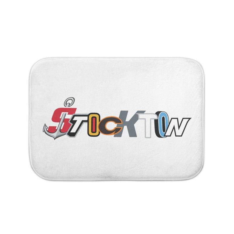 All Things Stockton Home Bath Mat by Mike Hampton's T-Shirt Shop
