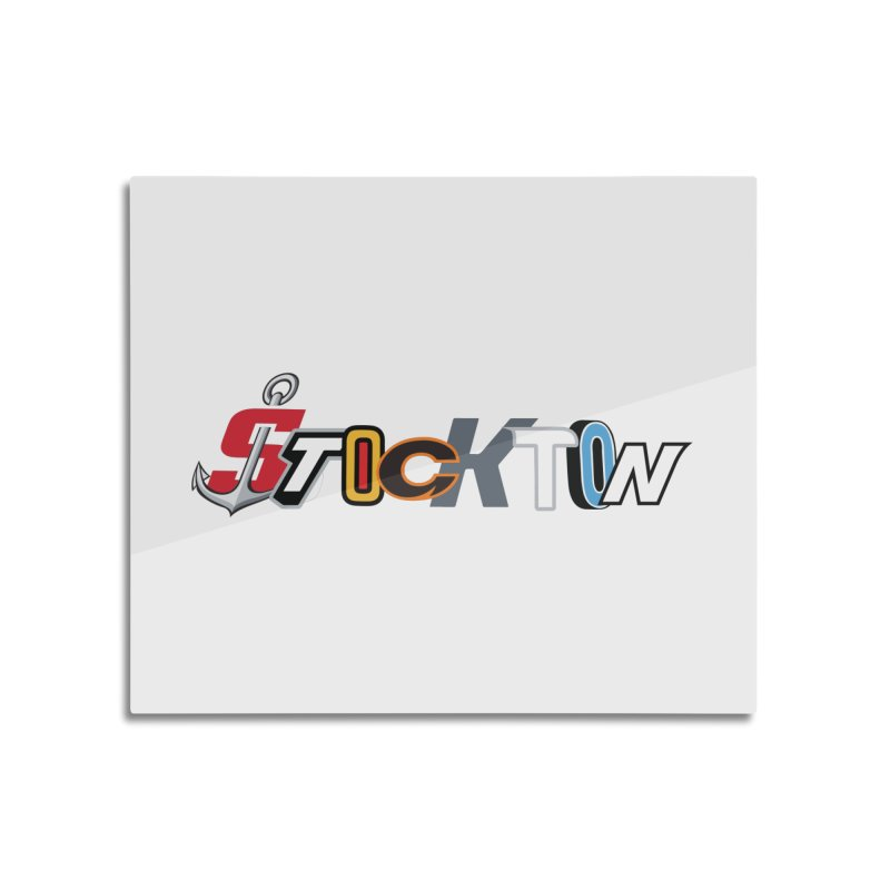 All Things Stockton Home Mounted Acrylic Print by Mike Hampton's T-Shirt Shop