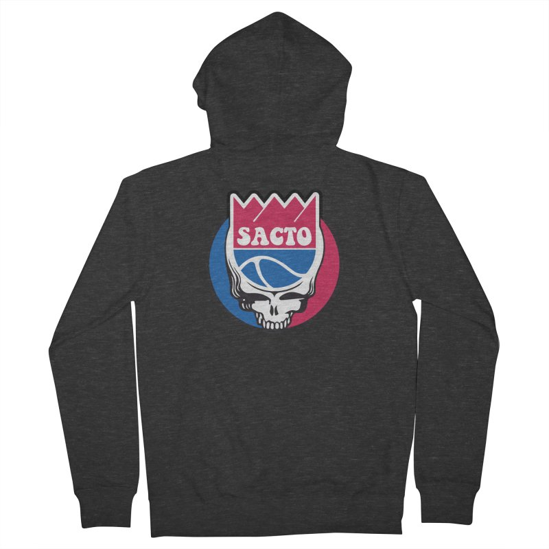 The Grateful Sacto Women's French Terry Zip-Up Hoody by Mike Hampton's T-Shirt Shop