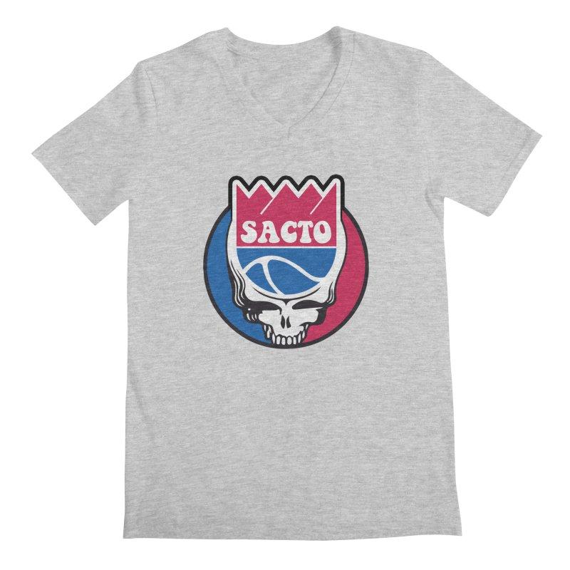 The Grateful Sacto Men's V-Neck by Mike Hampton's T-Shirt Shop