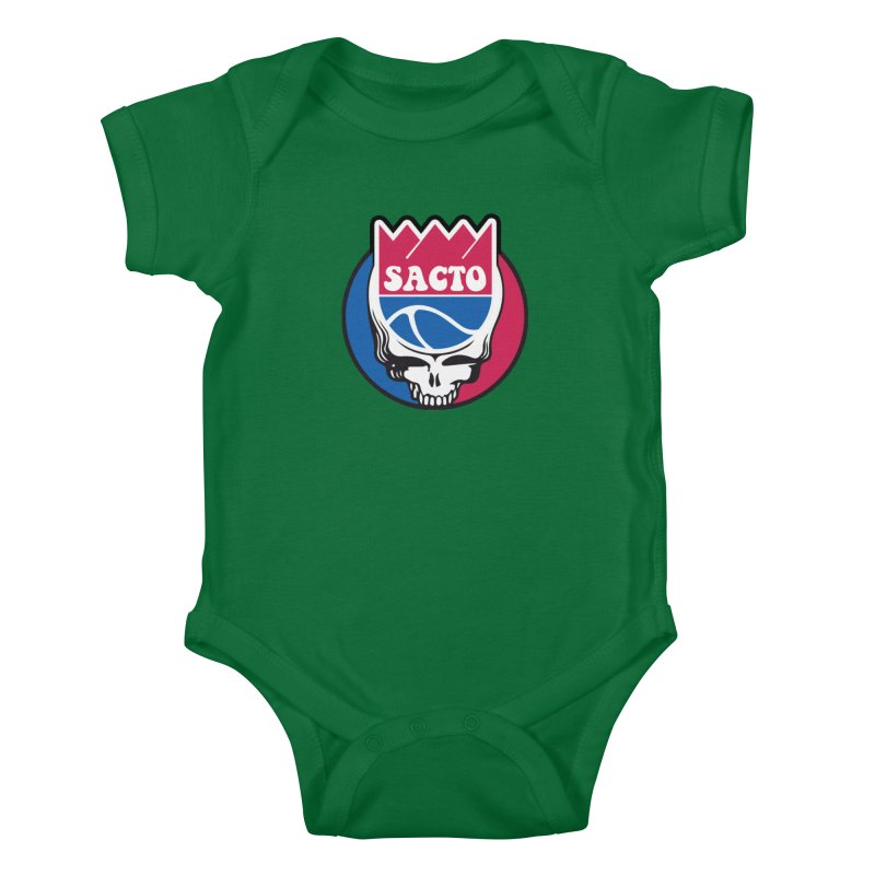 The Grateful Sacto Kids Baby Bodysuit by Mike Hampton's T-Shirt Shop