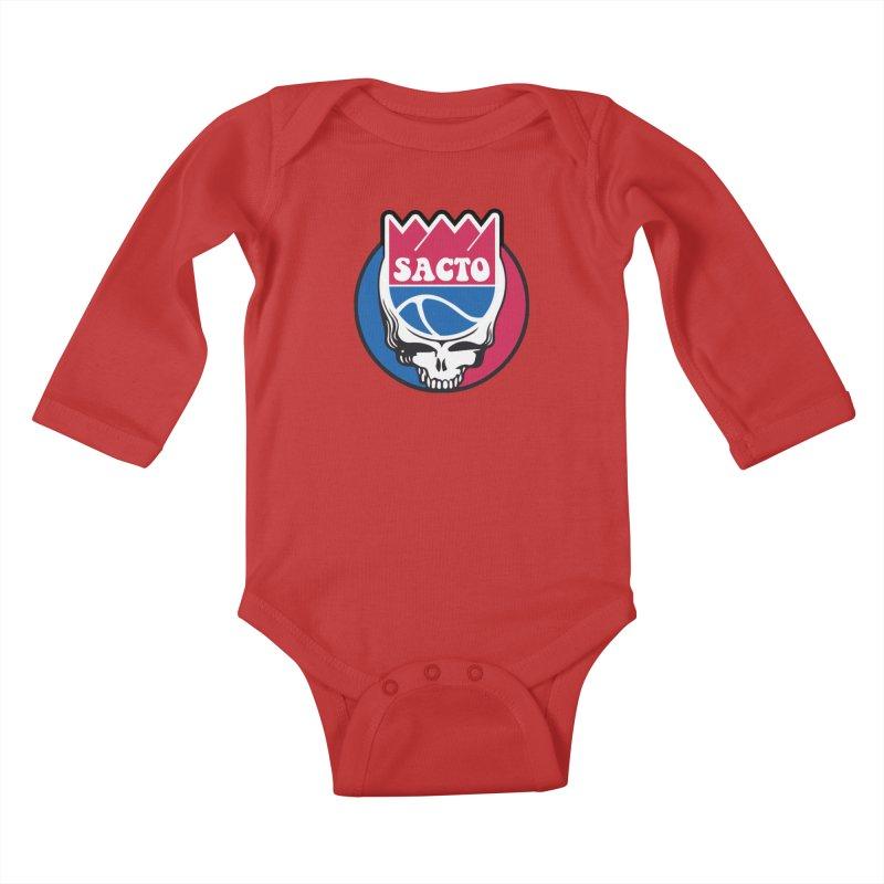 The Grateful Sacto Kids Baby Longsleeve Bodysuit by Mike Hampton's T-Shirt Shop