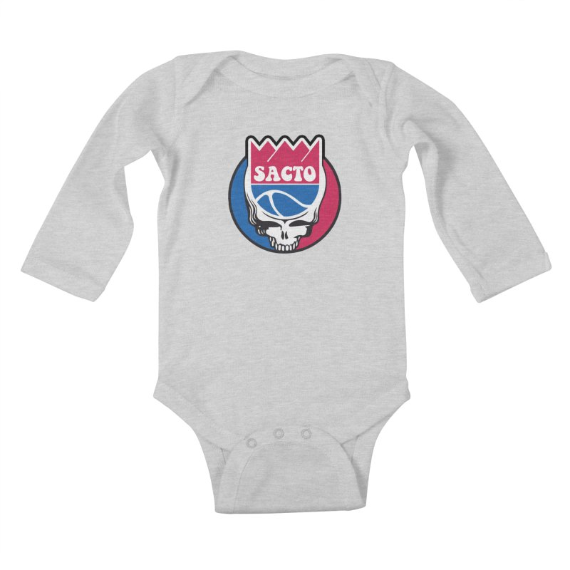 The Grateful Sacto Kids Baby Longsleeve Bodysuit by Mike Hampton's T-Shirt Shop