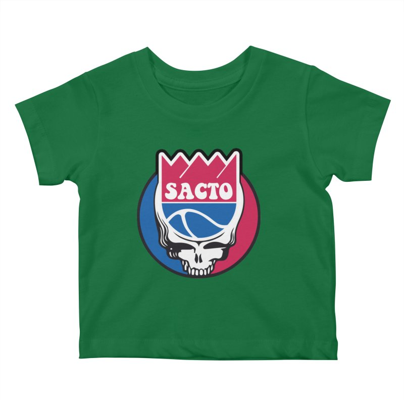 The Grateful Sacto Kids Baby T-Shirt by Mike Hampton's T-Shirt Shop