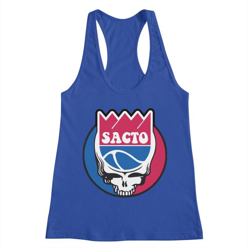 The Grateful Sacto Women's Racerback Tank by Mike Hampton's T-Shirt Shop