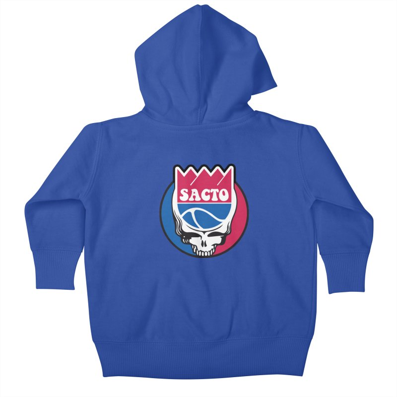The Grateful Sacto Kids Baby Zip-Up Hoody by Mike Hampton's T-Shirt Shop