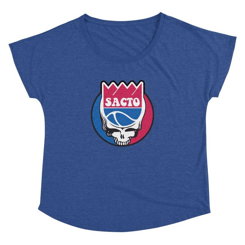 The Grateful Sacto Women's Scoop Neck by Mike Hampton's T-Shirt Shop