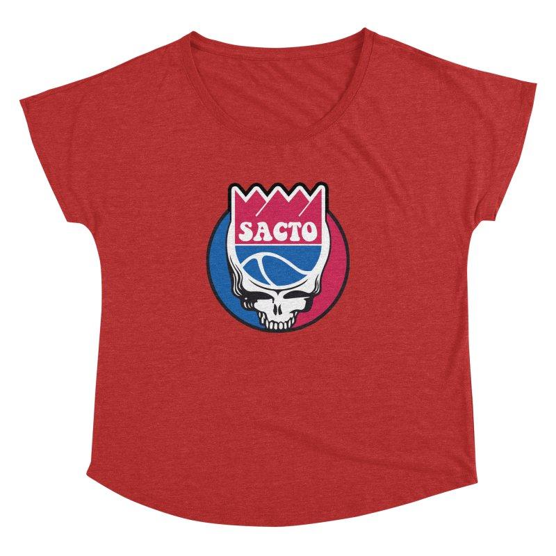 The Grateful Sacto Women's Dolman Scoop Neck by Mike Hampton's T-Shirt Shop