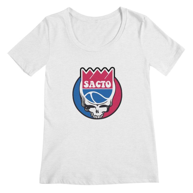 The Grateful Sacto Women's Regular Scoop Neck by Mike Hampton's T-Shirt Shop