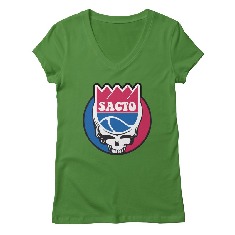 The Grateful Sacto Women's V-Neck by Mike Hampton's T-Shirt Shop