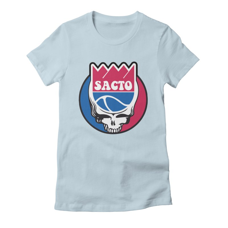The Grateful Sacto Women's Fitted T-Shirt by Mike Hampton's T-Shirt Shop