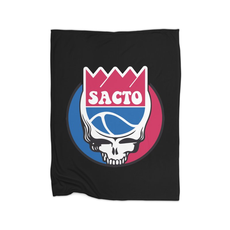 The Grateful Sacto Home Blanket by Mike Hampton's T-Shirt Shop