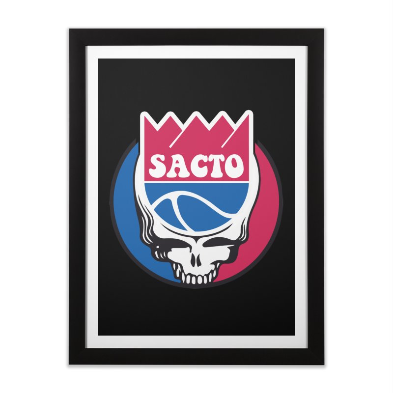 The Grateful Sacto Home Framed Fine Art Print by Mike Hampton's T-Shirt Shop