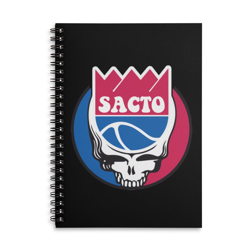 The Grateful Sacto Accessories Lined Spiral Notebook by Mike Hampton's T-Shirt Shop