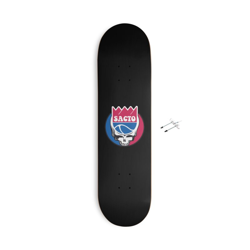 The Grateful Sacto Accessories With Hanging Hardware Skateboard by Mike Hampton's T-Shirt Shop