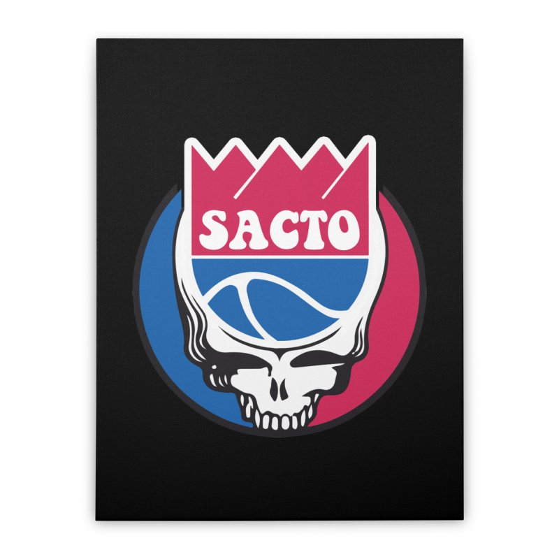 The Grateful Sacto Home Stretched Canvas by Mike Hampton's T-Shirt Shop