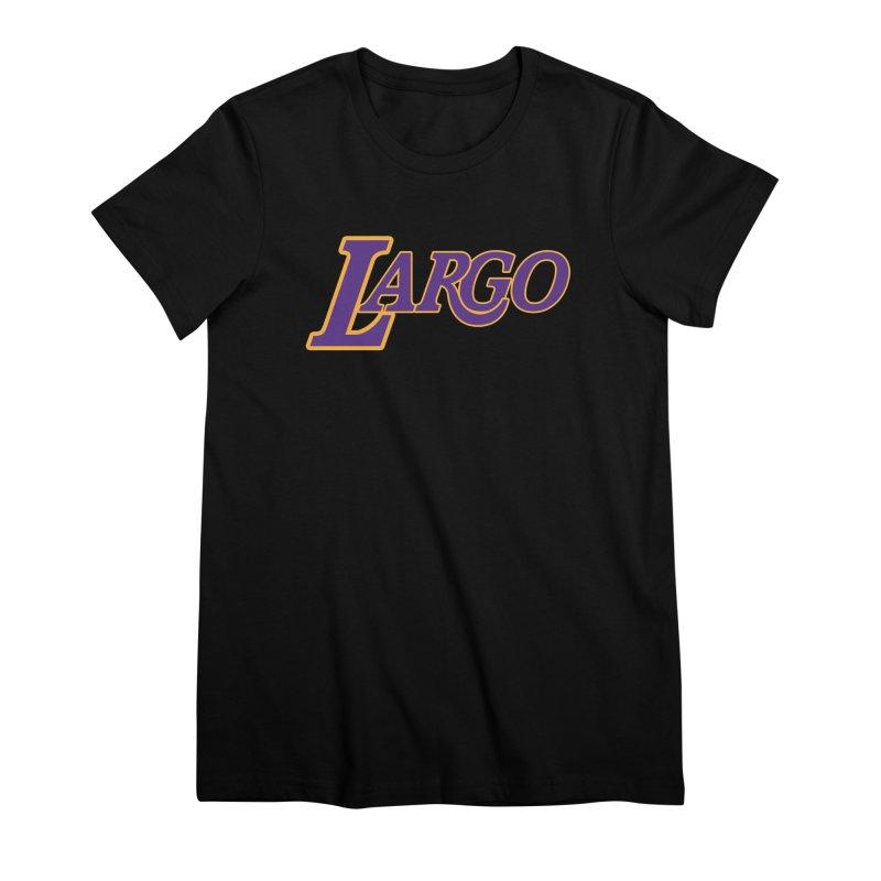Laaaaargo Women's Premium T-Shirt by Mike Hampton's T-Shirt Shop
