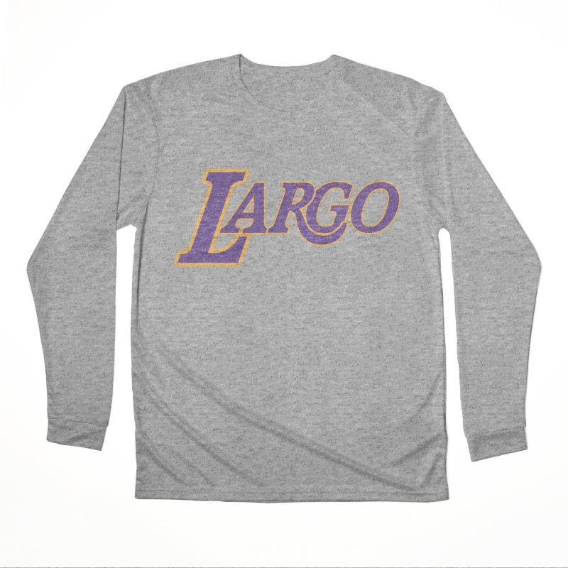 Laaaaargo Men's Performance Longsleeve T-Shirt by Mike Hampton's T-Shirt Shop