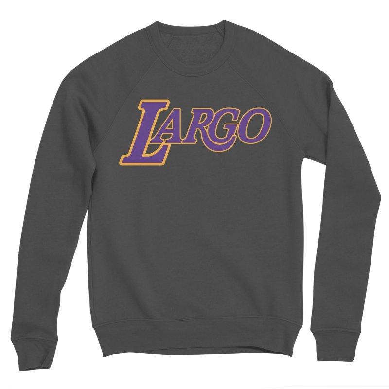 Laaaaargo Men's Sponge Fleece Sweatshirt by Mike Hampton's T-Shirt Shop