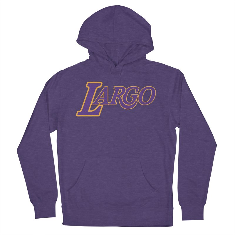 Laaaaargo Women's French Terry Pullover Hoody by Mike Hampton's T-Shirt Shop
