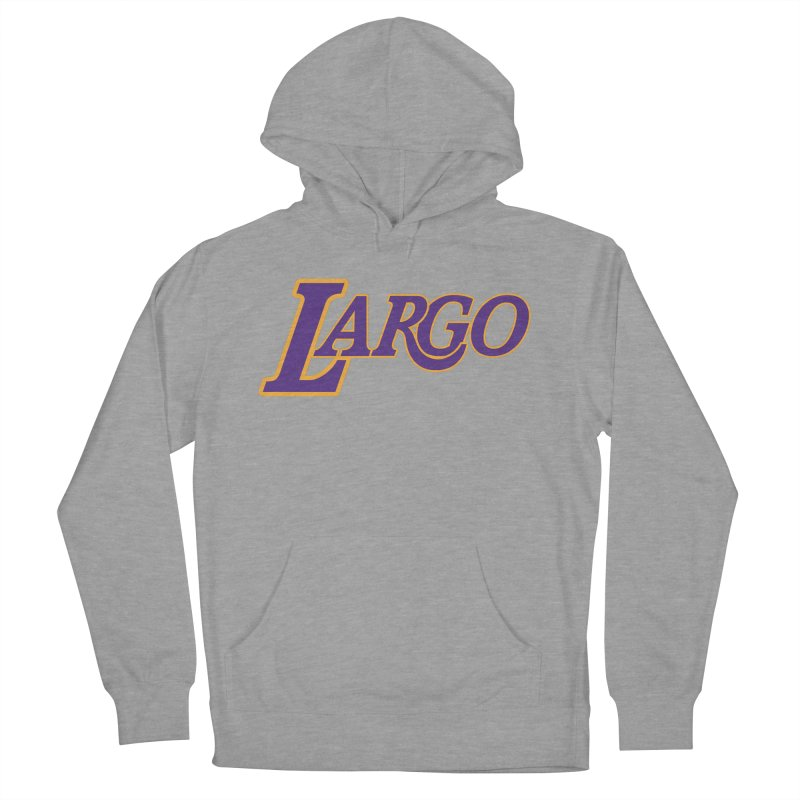 Laaaaargo Men's French Terry Pullover Hoody by Mike Hampton's T-Shirt Shop