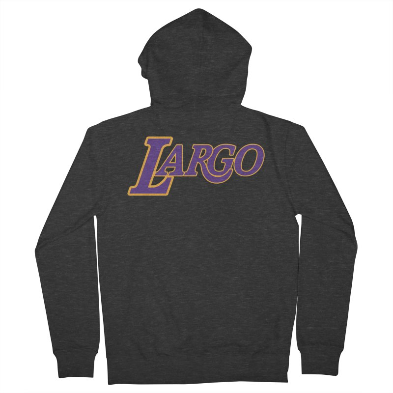 Laaaaargo Women's French Terry Zip-Up Hoody by Mike Hampton's T-Shirt Shop
