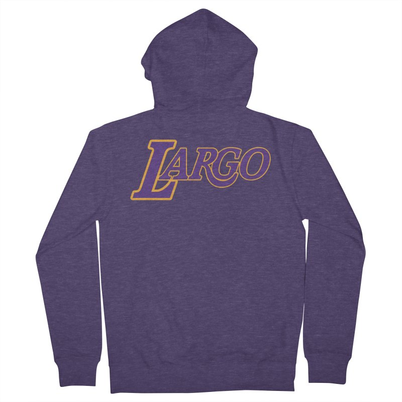 Laaaaargo Men's French Terry Zip-Up Hoody by Mike Hampton's T-Shirt Shop