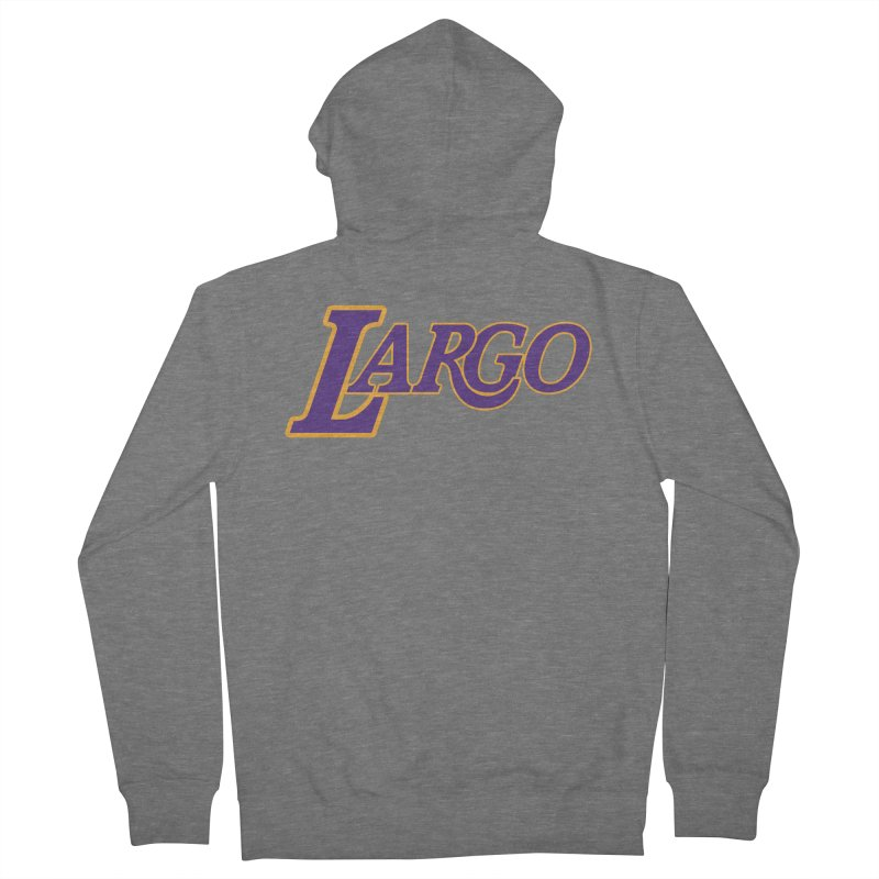 Laaaaargo Men's Zip-Up Hoody by Mike Hampton's T-Shirt Shop