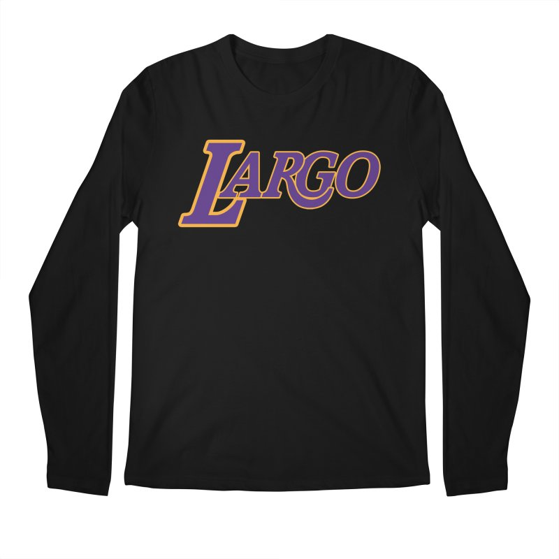 Laaaaargo Men's Regular Longsleeve T-Shirt by Mike Hampton's T-Shirt Shop