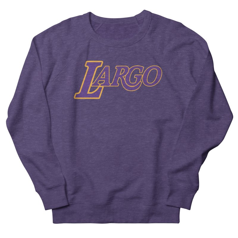 Laaaaargo Men's French Terry Sweatshirt by Mike Hampton's T-Shirt Shop