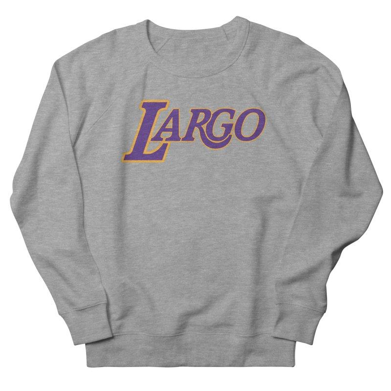 Laaaaargo Men's French Terry Sweatshirt by Mike Hampton's T-Shirt Shop