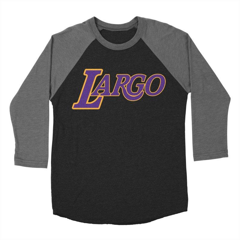Laaaaargo Women's Baseball Triblend Longsleeve T-Shirt by Mike Hampton's T-Shirt Shop