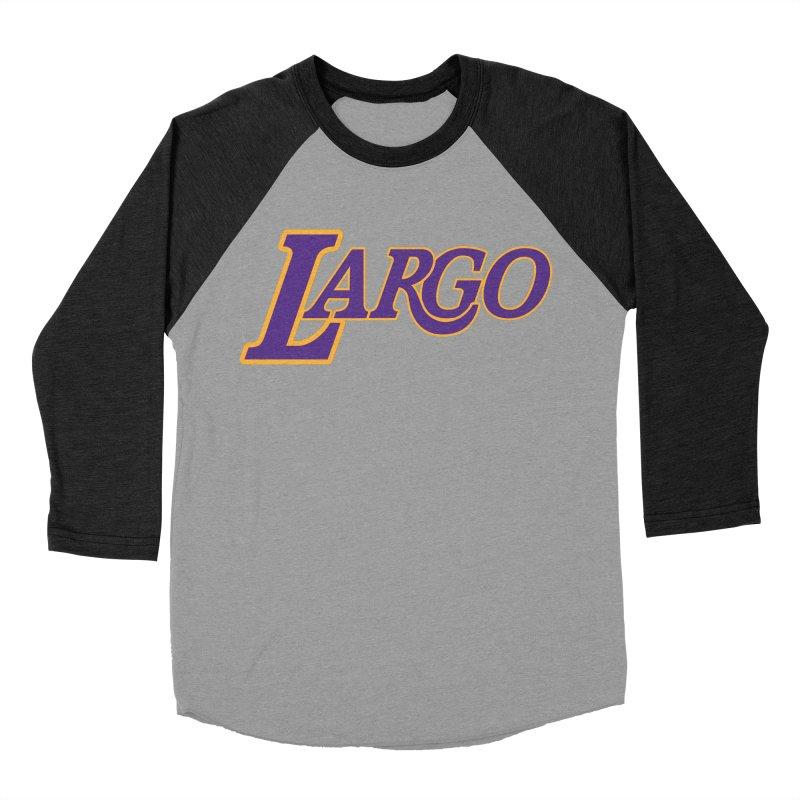 Laaaaargo Men's Baseball Triblend Longsleeve T-Shirt by Mike Hampton's T-Shirt Shop
