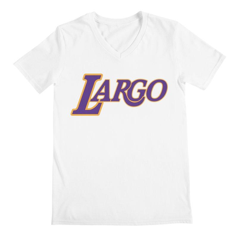 Laaaaargo Men's V-Neck by Mike Hampton's T-Shirt Shop