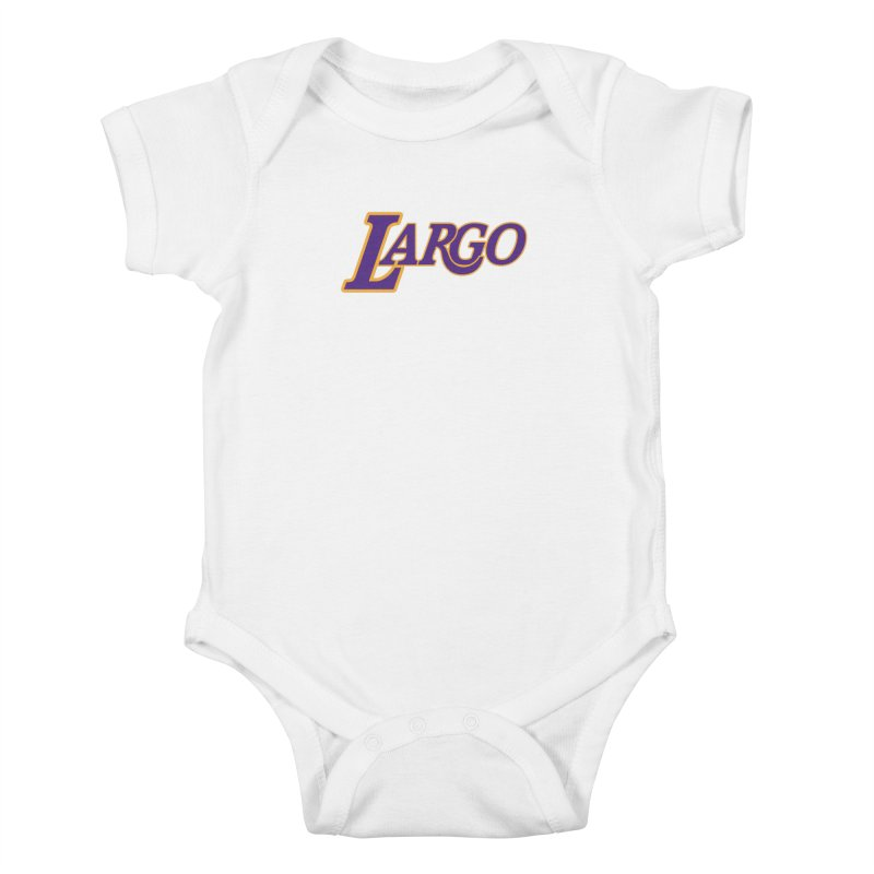 Laaaaargo Kids Baby Bodysuit by Mike Hampton's T-Shirt Shop