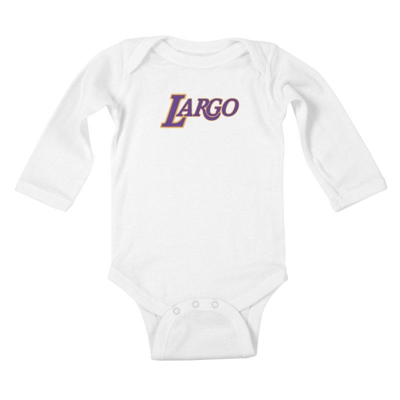 Laaaaargo Kids Baby Longsleeve Bodysuit by Mike Hampton's T-Shirt Shop