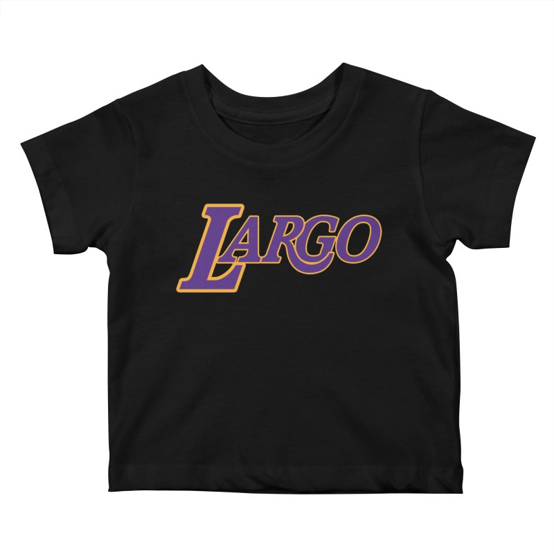 Laaaaargo Kids Baby T-Shirt by Mike Hampton's T-Shirt Shop
