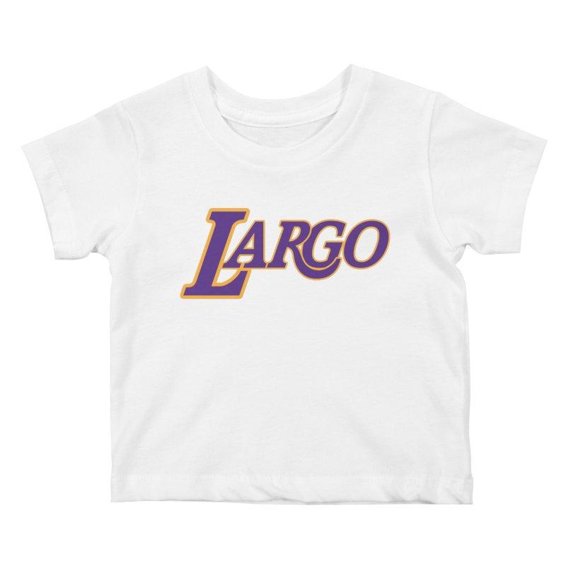 Laaaaargo Kids Baby T-Shirt by Mike Hampton's T-Shirt Shop