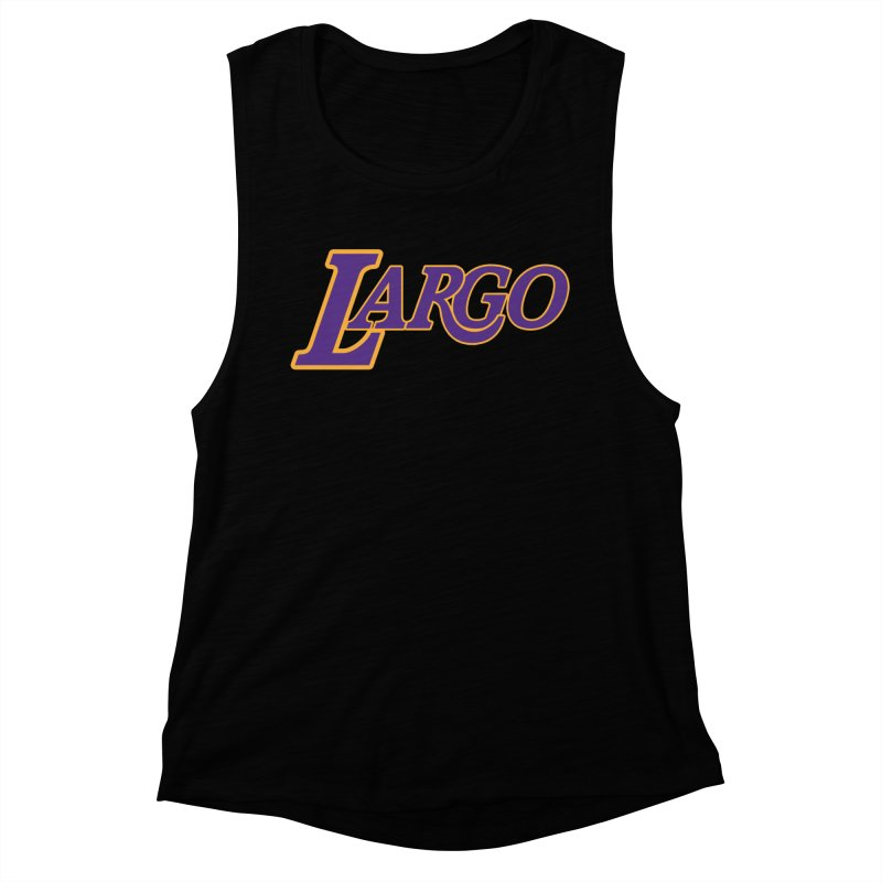 Laaaaargo Women's Muscle Tank by Mike Hampton's T-Shirt Shop