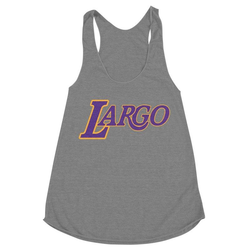 Laaaaargo Women's Racerback Triblend Tank by Mike Hampton's T-Shirt Shop