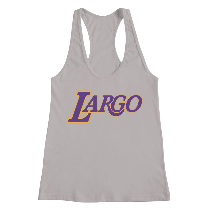 Laaaaargo Women's Racerback Tank by Mike Hampton's T-Shirt Shop