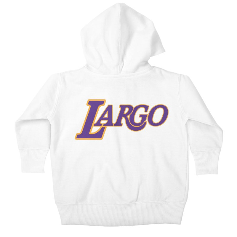 Laaaaargo Kids Baby Zip-Up Hoody by Mike Hampton's T-Shirt Shop