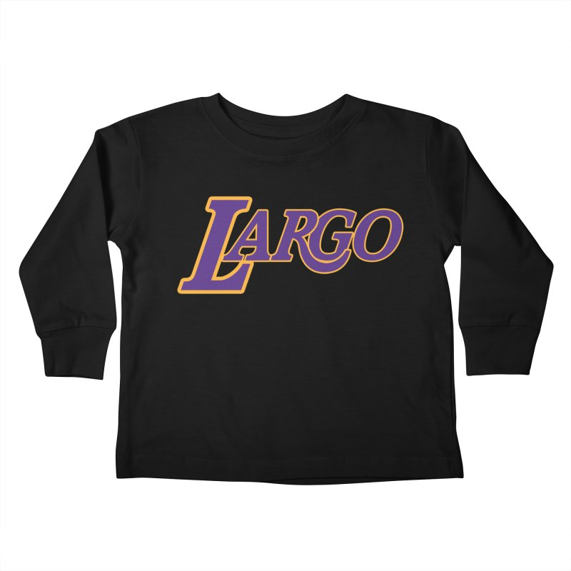 Laaaaargo Kids Toddler Longsleeve T-Shirt by Mike Hampton's T-Shirt Shop