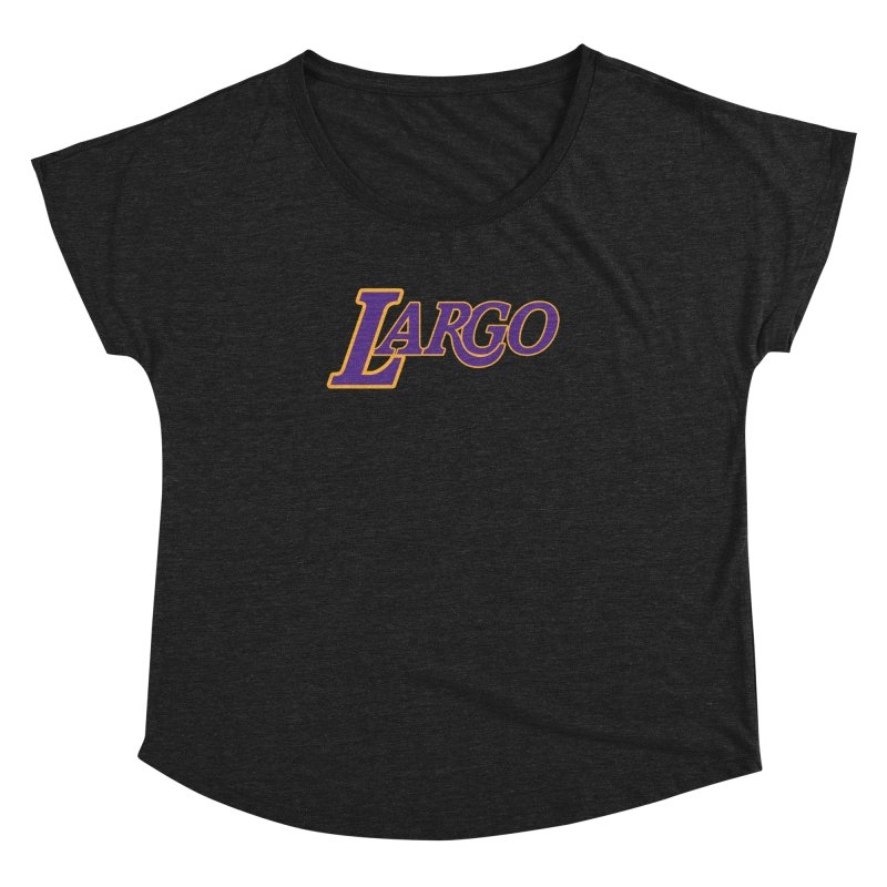 Laaaaargo Women's Dolman Scoop Neck by Mike Hampton's T-Shirt Shop
