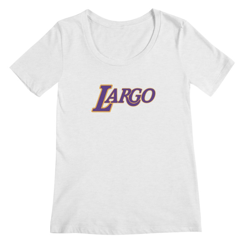 Laaaaargo Women's Regular Scoop Neck by Mike Hampton's T-Shirt Shop
