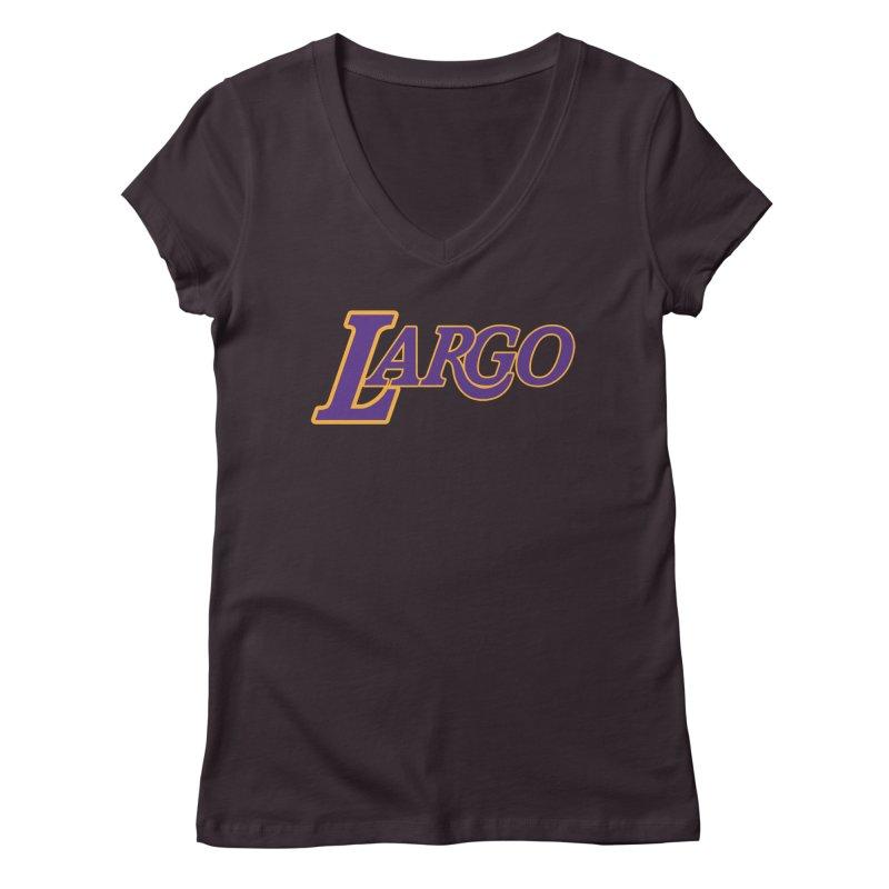 Laaaaargo Women's Regular V-Neck by Mike Hampton's T-Shirt Shop