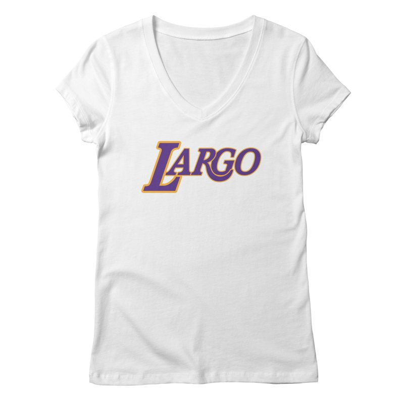 Laaaaargo Women's V-Neck by Mike Hampton's T-Shirt Shop