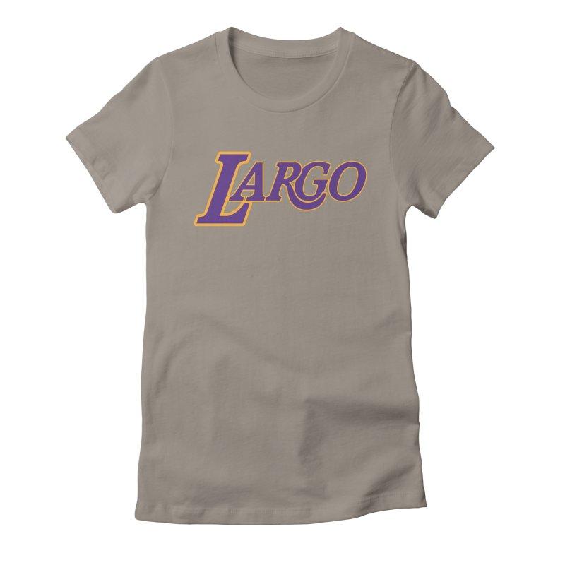 Laaaaargo Women's Fitted T-Shirt by Mike Hampton's T-Shirt Shop