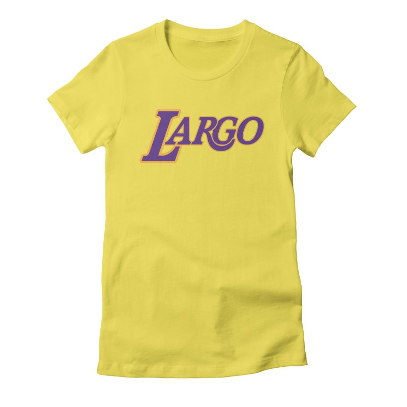 Laaaaargo Women's Fitted T-Shirt by Mike Hampton's T-Shirt Shop